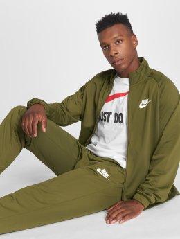 Nike Obleky M NSW TRK SUIT PK BASIC olivový