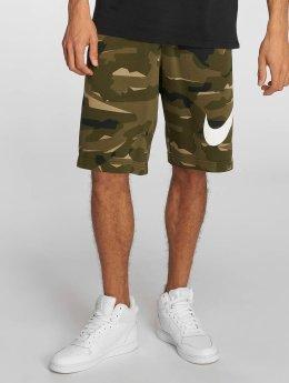 Nike Pantalón cortos FT Club oliva