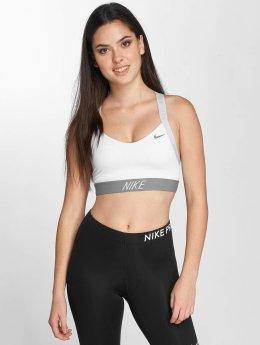 Nike Performance Športová podprsenka Pro Indy Logo Back bílý