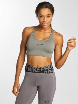 Nike Performance Soutiens-gorge de sport Swoosh gris