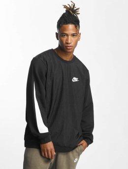 Nike Pulóvre Crew Fleece Hybrid èierna