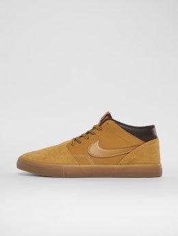 Nike SB Сникеры Portmore Ii Solarsoft Mid Bota коричневый