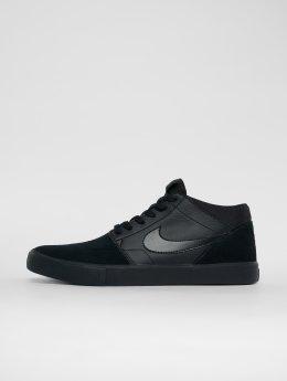 Nike SB Snejkry Solarsoft Portmore Ii Mid Skateboarding čern