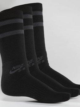 Nike SB Sukat SB Crew Skateboarding 3-Pack musta