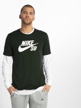Nike SB t-shirt Logo blauw
