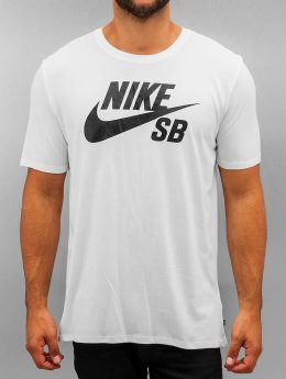 Nike SB T-skjorter SB Logo hvit