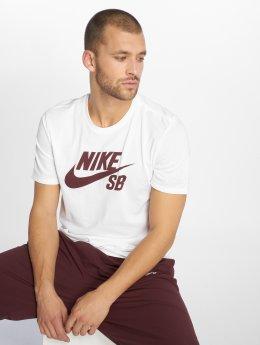 Nike SB T-skjorter Logo hvit