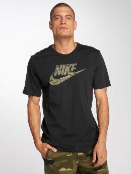 Nike T-paidat Sportswear Pack 2 Camo musta