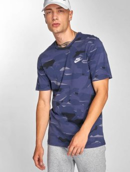 Nike T-paidat Pack 1 Camo sininen