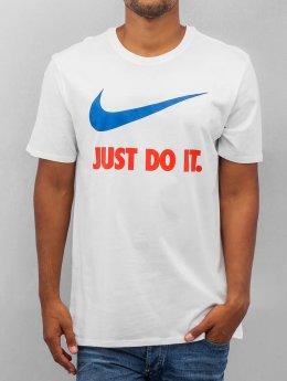 Nike T-paidat New JDI Swoosh valkoinen