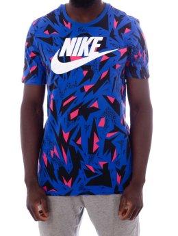 Nike T-Shirt Nsw Aop blau