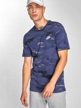 Nike t-shirt Pack 1 Camo blauw