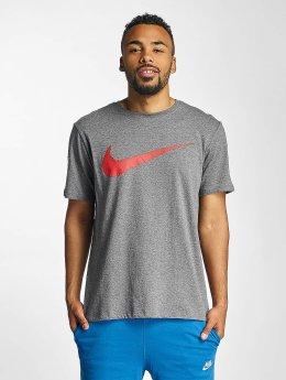 Nike T-Shirt Hangtag Swoosh grey