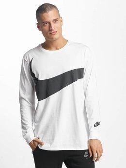Nike T-Shirt manches longues NSW Hybrid blanc