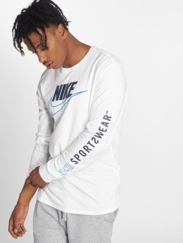 Nike T-Shirt manches longues Sportswear blanc