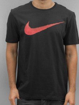 Nike T-Shirt Hangtag Swoosh schwarz