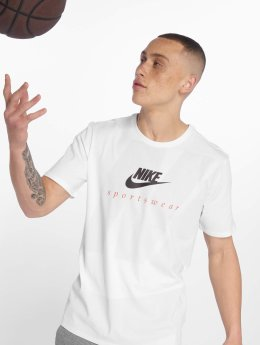 Nike T-Shirty Label bialy