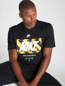 Nike T-skjorter Tape svart