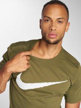 Nike Trika Sportswear Swoosh olivový