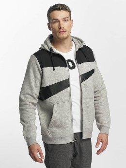 Nike Vetoketjuhupparit NSW Fleece Hybrid harmaa