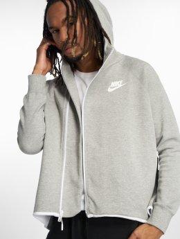 Nike Vetoketjuhupparit Tech Fleece harmaa