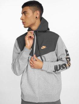 Nike Zip Hoodie  серый