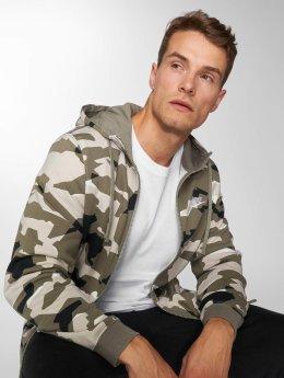 Nike Zip Hoodie Sportswear Club camouflage
