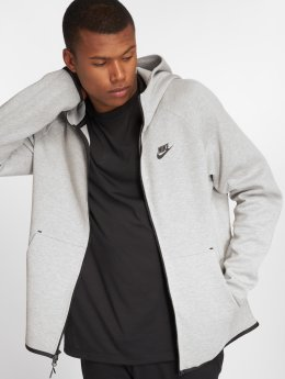 Nike Zip Hoodie Sportswear Tech Fleece grau