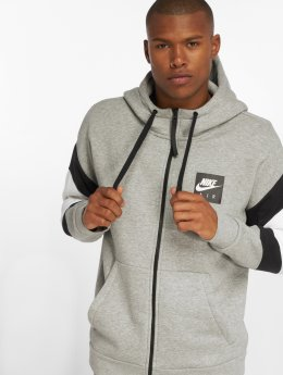 Nike Zip Hoodie Air Transition grau