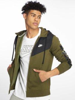 Nike Zip Hoodie Colorblock oliv