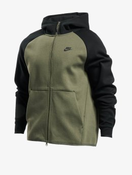 Nike Zip Hoodie Sportswear Tech Fleece olivová