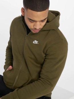Nike Zip Hoodie Sportswear olivový