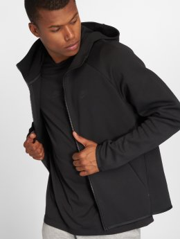 Nike Zip Hoodie Sportswear Tech Fleece svart