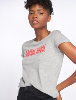 Noisy May Camiseta nmNate Printed gris