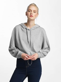 Noisy May Hoody nmChristian Crop grau