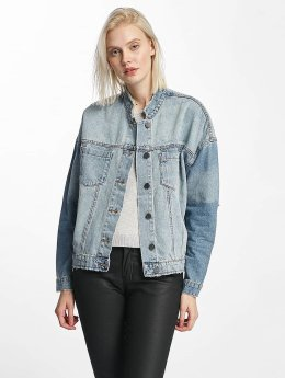 Noisy May Frauen Jeansjacken nmDash Back Print Denim in blau