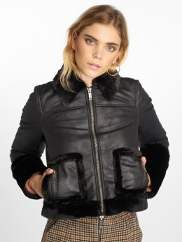 Noisy May Lederjacke nmLaurel schwarz