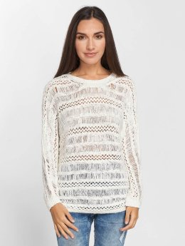 Noisy May nmTam O-Neck Crochet Knit Longsleeve Snow White