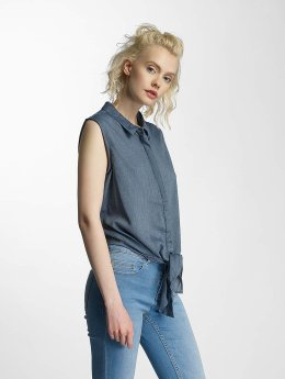 nmEvelyn Tie Short Shirt Ombre Blue