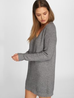 Noisy May Robe nmSati Cable Knit gris