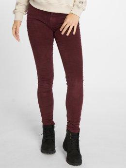 Noisy May Skinny Jeans nmLucy Skinny Corduroy červený
