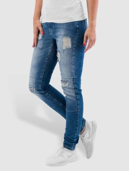 Noisy May / Skinny jeans nmLucy Super Slim Rip Patch in blauw