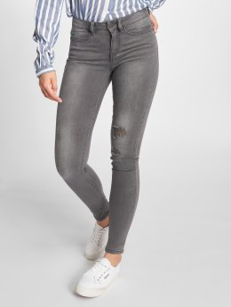 Noisy May Skinny jeans nmLucy Coffee Dest grijs