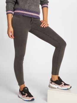 Noisy May Skinny jeans nmExtra Eve Low Waist grijs