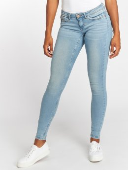 Noisy May Skinny Jeans nmEve LW Pocket Piping niebieski