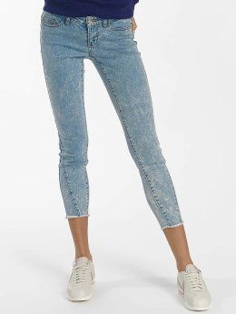 Noisy May Frauen Slim Fit Jeans nmEve in blau