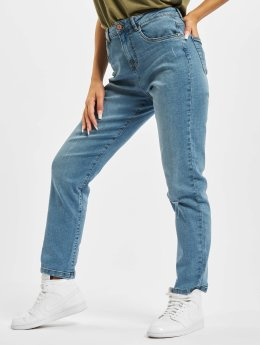 Noisy May Straight fit jeans nmLiv blauw