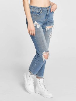 Noisy May Straight fit jeans Liv blauw