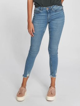 Noisy May Straight fit jeans Lucy blauw