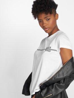 Noisy May T-Shirt nmNate Never Mind blanc